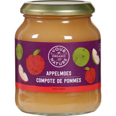Appelmoes  van Your Organic Nature, 6 x 355 g