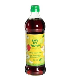 Diksap appel-peer van Save my fruits, 6 x 500 ml