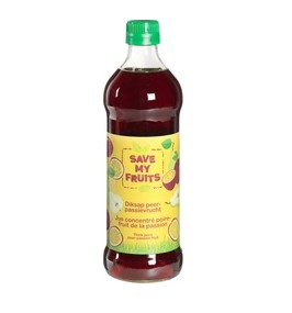 Diksap peer-passievrucht van Save my fruits, 6 x 500 ml