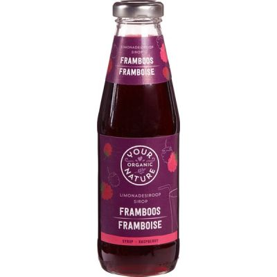 Framboossiroop van Your Organic Nature, 6 x 500 ml
