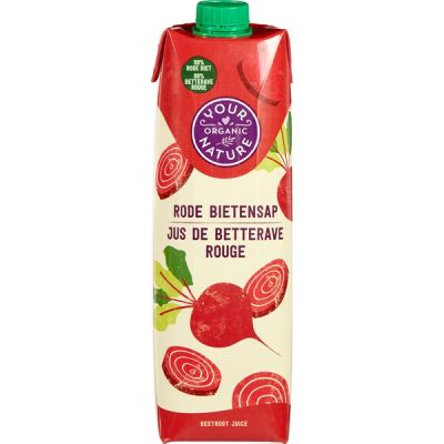 Rode bietensap van Your Organic Nature, 6 x 1 l