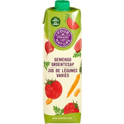 Gemengd groentesap van Your Organic Nature, 6 x 1 l