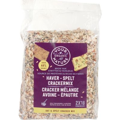 Haver-spelt crackers van Your Organic Nature, 6 x 500 g
