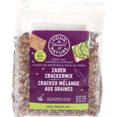 Zaden crackermix van Your Organic Nature, 6 x 500 g