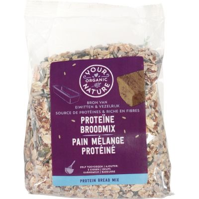 Proteine broodmix van Your Organic Nature, 6 x 500 g