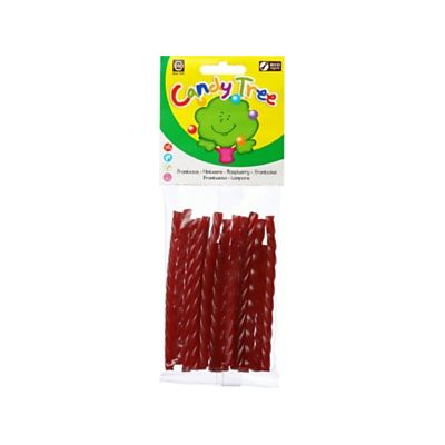 Frambozenkabels van Candy Tree, 12x 75 gr