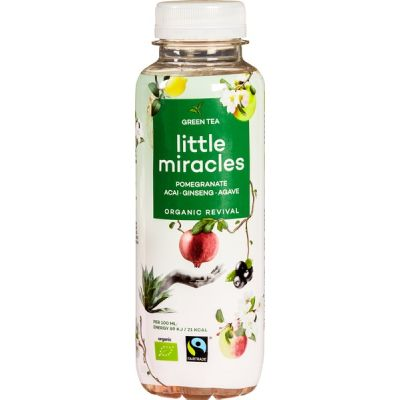 Green tea met ginseng van Little Miracles, 12 x 330 ml