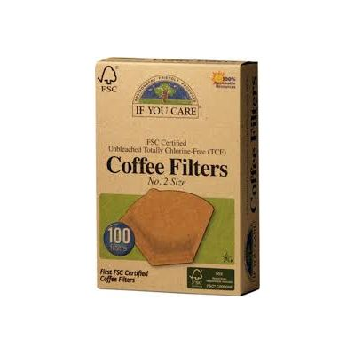 Koffie filters NR 2 FSC van If You Care, 1x 100 st