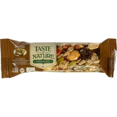 Brazilian nut reep van Taste of Nature, Raw Food, 16x 40gr