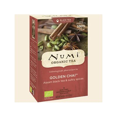 Golden chai - spiced assam van Numi, 6x 46,8 gr