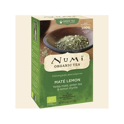 Rainforest green - mate lemon myrtle thee van Numi, 6x 41,4 gr