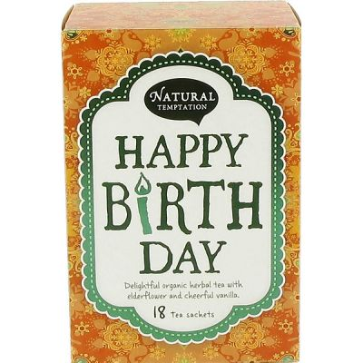 Happy birthday kruidenthee van Natural Temptation, 5 x 18 blt