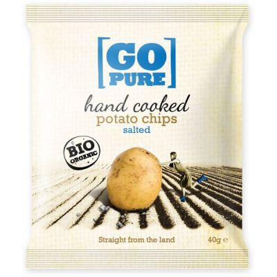 Hand Cooked Chips Salted van Go Pure, 15x 40 gram.