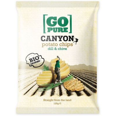 Canyon Chips Dill & Chive van Go Pure, 6x 125 gram.