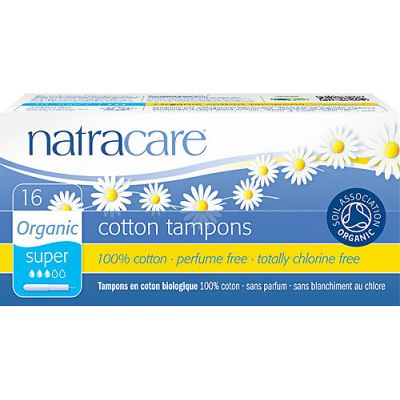 Applicator Tampons Super van Natracare, 12x 16 st