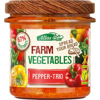 Farm vegetables paprika van Allos, 6x 135gr