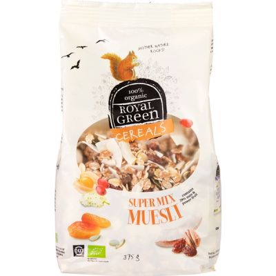 Super mix muesli van Royal Green, 6x 375g