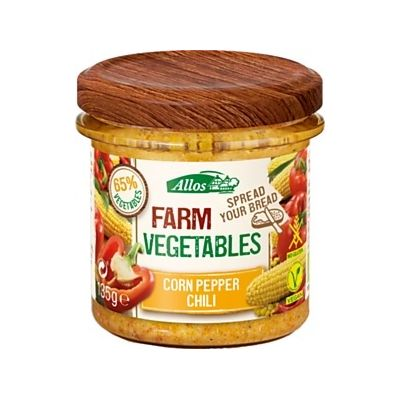 Farm vegetables mais paprika en chili van Allos, 6x 135gr