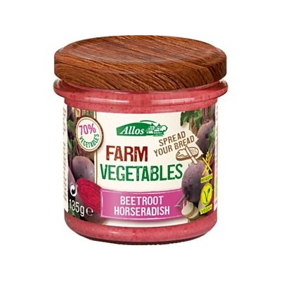 Farm vegetables rode biet mierikswortel van Allos, 6x 135gr