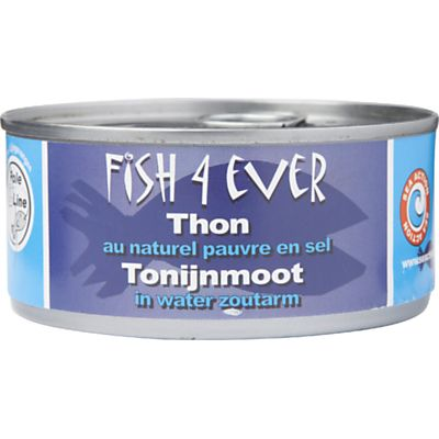 Tonijnmoot in water zoutarm van Fish4Ever, 15x 160 g
