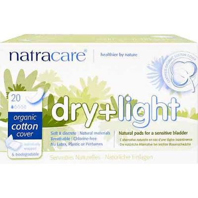 Dry and light incontinence pads van Natracare, 6x 8 stuks.