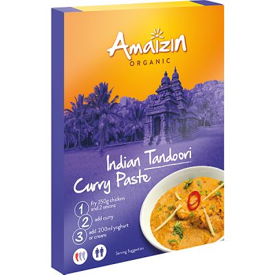 Indian tandoory curry paste van Amaizin, 12x 80 g