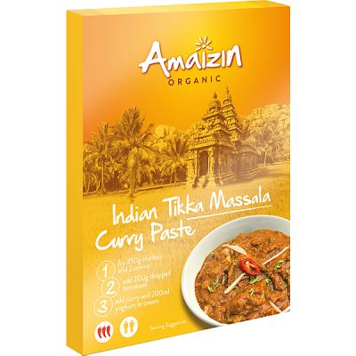 Indian tikka massala curry paste van Amaizin, 12x 80 g