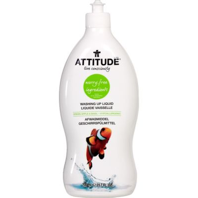 Afwasmiddel green apple & basil van Attitude, 9 x 700 ml