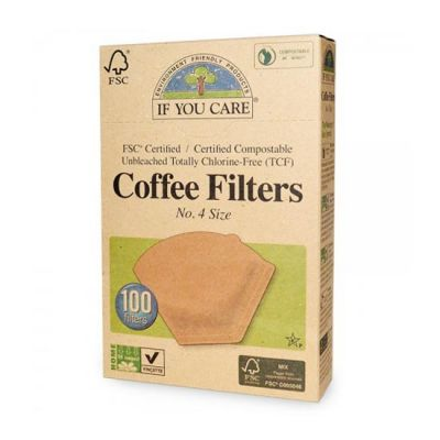Koffie filters NR 4 FSC van If You Care, 1x 100 stks