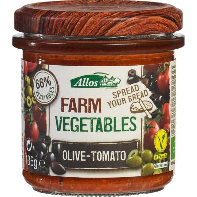 Farm vegetables olijf tomaat van Allos, 6x 135gr