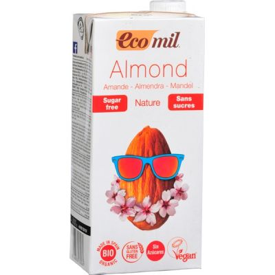 Almond milk nature van Ecomil, 6 x 1 l