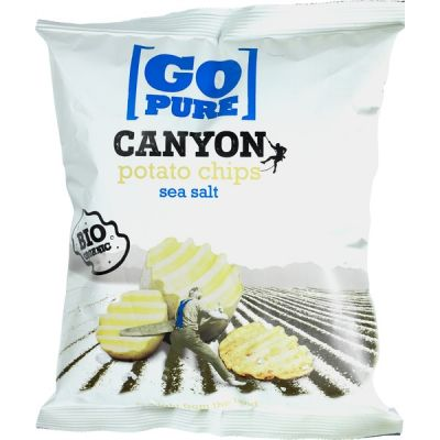 Canyon chips sea salt van Go pure, 6 x 125 g
