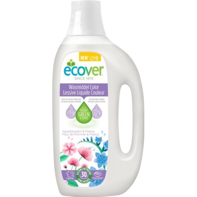 Laundry liquid color van Ecover, 6 x 1,5 l