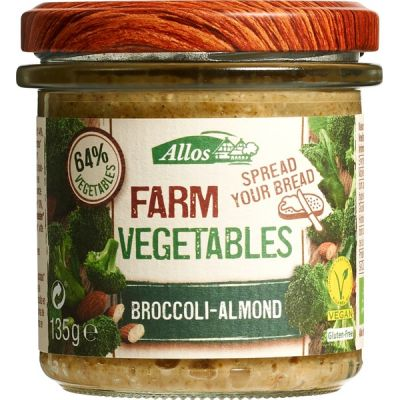 Farm vegetables broccoli-almond van Allos, 6 x 135 g