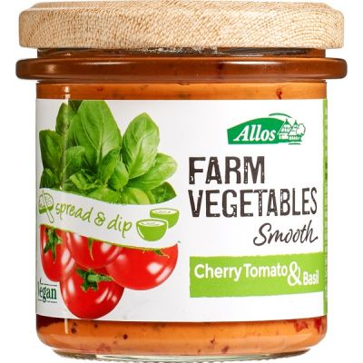 Farm vegetables Smooth Cherry Tomato & Basil van Allos, 6 x 140