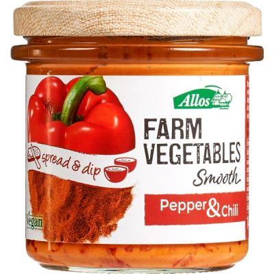 Farm vegetables Smooth Paprika & Chili van Allos, 6 x 140 g
