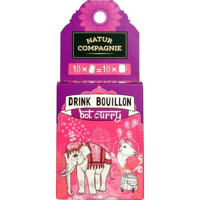 Drinkbouillon Hot Curry van Natur Compagnie, 6 x 50 g