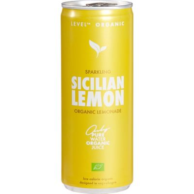 Lemonade Sicilian Lemon van Level Organic, 12 x 250 ml