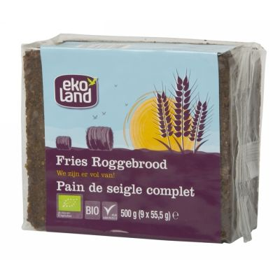 Fries roggebrood van Ekoland, 12 x 500 g