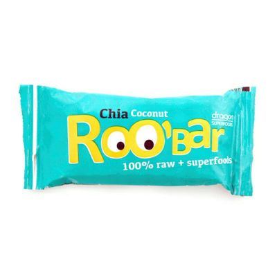 Chia & coconut 100% raw van Roo`bar, 16 x 50 g