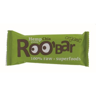 Hemp proteine chia 100%raw van Roo`bar, 16 x 50 g