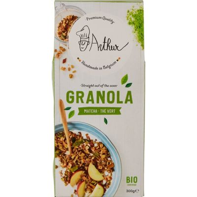 Granola Matcha van Arthur and the Sisters, 8 x 300 g