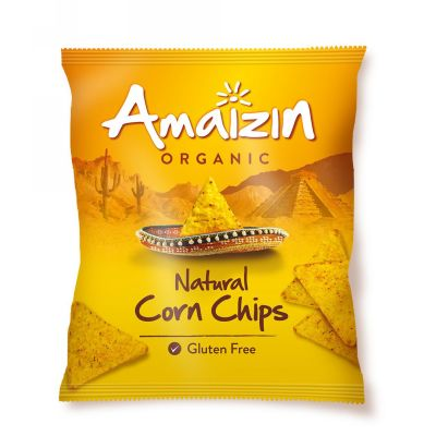 Corn chips natural van Amaizin, 16 x 75 g