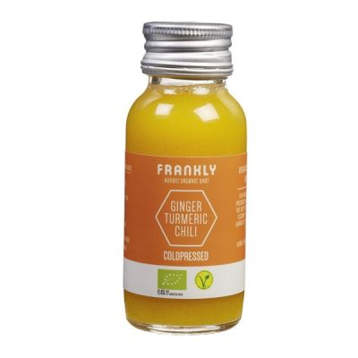 Ginger tumeric chili shot van Frankly, 12 x 60 ml