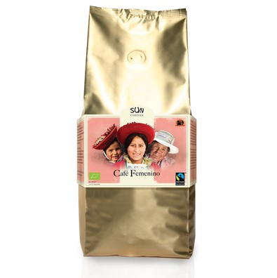 Arabica medium roast Cafe Femenino van SUN coffee bonen, 1 x 1 k
